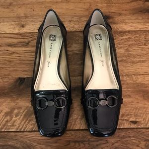 Anne Klein Navy Patent Leather Flat